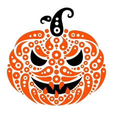 Halloween pumpkin. Decorative pattern silhouette of pumpkin  Vector