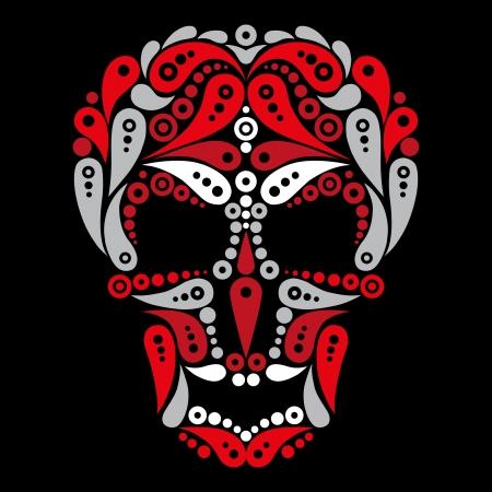 catrina: Ornate tattoo skull  Illustration
