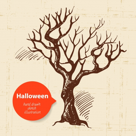 Halloween hand drawn illustration Vector