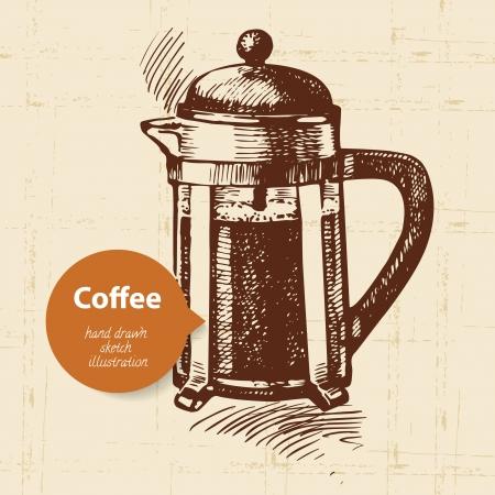fond caf�: Main fond de caf? vintage