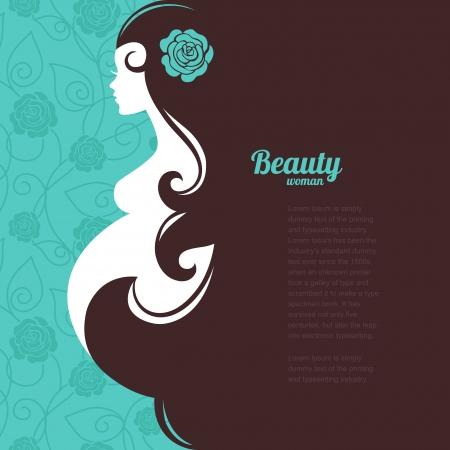 Silueta de mujer embarazada Foto de archivo - 22913018