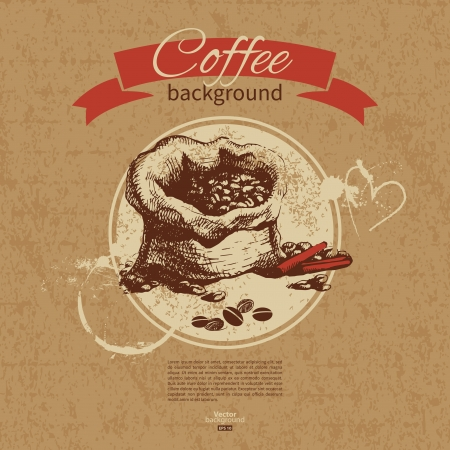 coffeehouse: Hand drawn vintage coffee background. Menu for restaurant, cafe, bar, coffeehouse