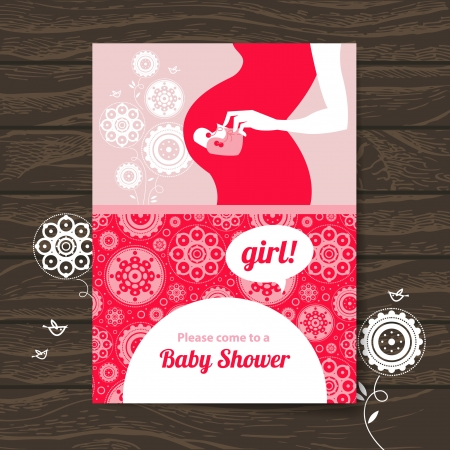 Silhouette pregnant mother baby shower invitation royalty free silhouette pregnant mother baby shower invitation royalty free cliparts vectors and stock illustration image 24468682 filmwisefo