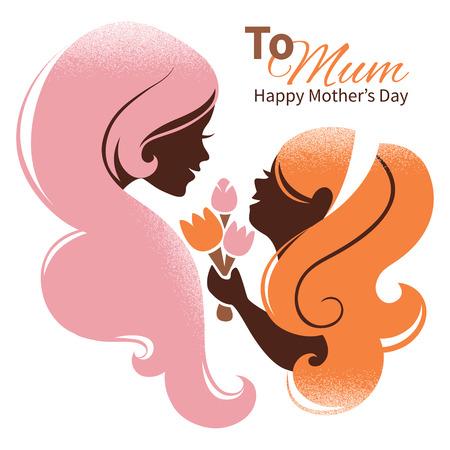 ser padres: Tarjeta de madre feliz