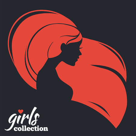 sexy woman silhouette: Beautiful woman silhouette. Girls collection