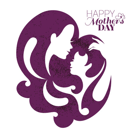 happy girls: Card of Happy Mother Day