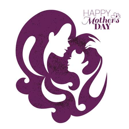 Karte von Happy Muttertag Standard-Bild - 30510215