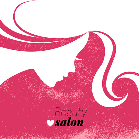 woman profile: Beautiful woman silhouette. Vector illustration