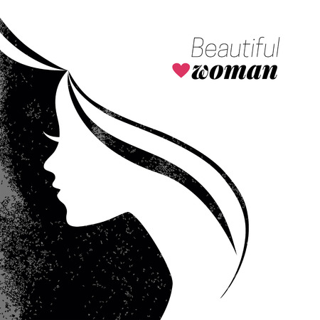 Beautiful woman silhouette. Vector illustration Vector