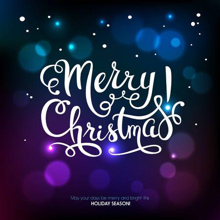 feriado: Fondo de la Feliz Navidad. Tarjeta de Año Nuevo feliz. ilustración vectorial Vectores
