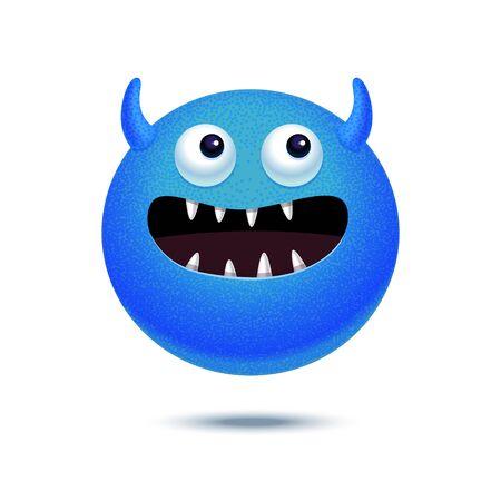 funny monster: Cartoon funny monster. Vector illustration