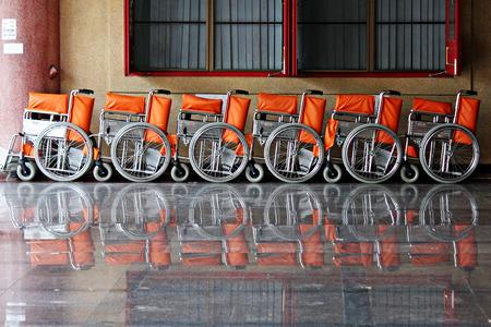 wheelchairs Standard-Bild