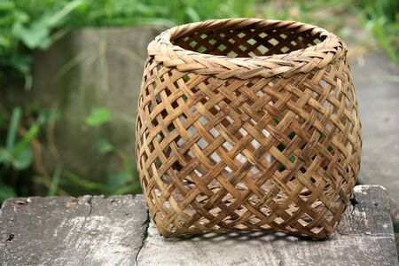 Braiding basket for the fish used in Asia  photo
