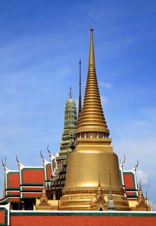 Pagodas in Wat Phra Kaew  the temple in grand palace  photo