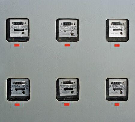 contador electrico: medidor el�ctrico, medidor el�ctrico viejo vista frontal