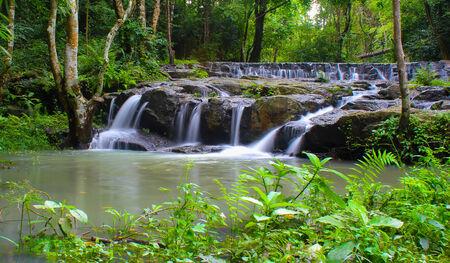 Waterfall in Namtok Samlan National Park, Saraburi, Thailand photo