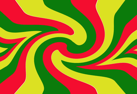 reggae: Rouge, jaune, rasta drapeau vert