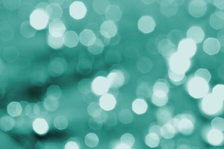 white bokeh abstract green light backgrounds Stock Photo