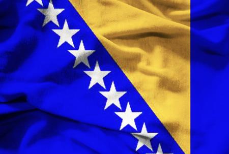 herzegovina: Bosnia and Herzegovina flag Stock Photo