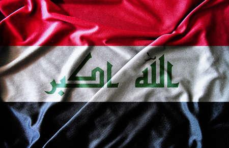 iraq war: Waving Iraq Flag