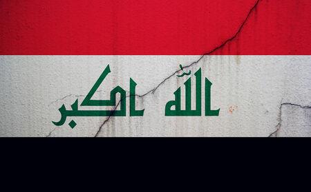 militant: Iraq, flag, Iraq flag, war, conflict, worn, distressed