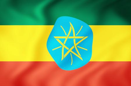 ethiopia abstract: Ethiopia waving flag Stock Photo