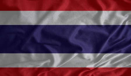 thai silk: Fabric texture of the flag of Thailand Stock Photo