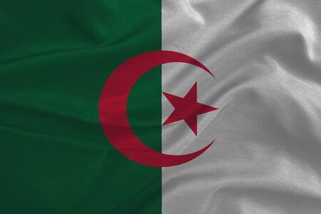 algeria: Waving Algeria Flag fabric