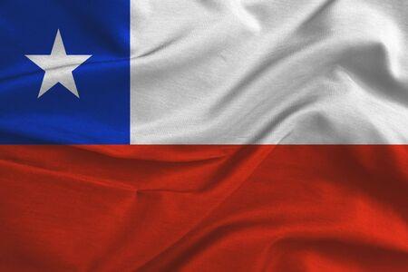 chilean: Waving colorful Chilean flag