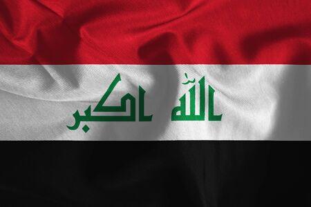 iraq flag: Waving Iraq Flag