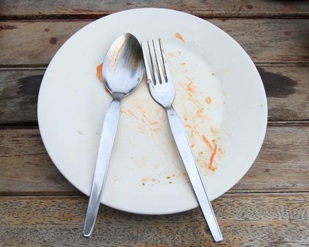 overhead shot of an empty dish