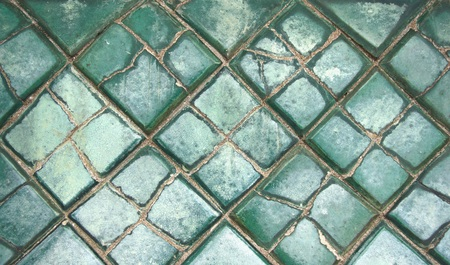 ���wall tiles���: old green wall tiles as a background image