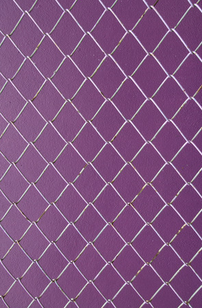 wire mesh: Wire Mesh, iron wire fence on the wall purple background.