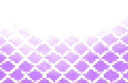 urban sprawl: Purple abstraction, composed of purple bricks, different shades.