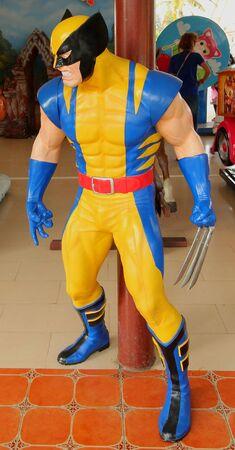 wolverine: AYUTTAYA,THAILAND - October 24, 2015 : Wolverine model at Thung Bua Chom floating market Editorial