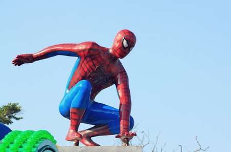 holiday movies: Samut Prakan, THAILAND - October 25, 2015: Spider-Man model in a theme park of celebration. Editorial