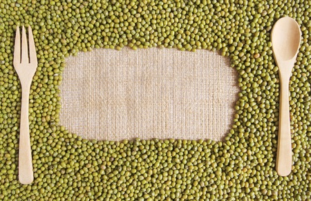 protein source: Green bean or mung bean background