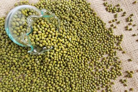 green bean: Green bean or mung bean in a glass