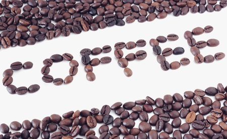 non alcoholic beverage: words coffee of coffee beans, can be used as a background, Vintage Stock Photo