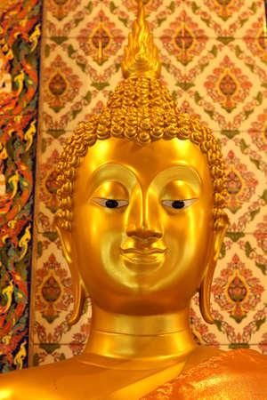 cabeza de buda: Cabeza de Buda de oro Foto de archivo