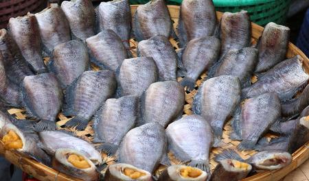 pectoralis: Trichogaster pectoralis, Dry fish out salty , fish thai food.