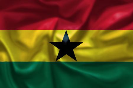 Ghana: Ghana Flag Stock Photo