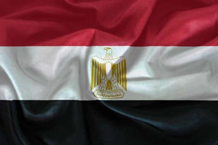 bandera de egipto: patrón de la bandera de Egipto en la textura de la tela Foto de archivo