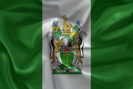 Rhodesia flag  on the fabric texture