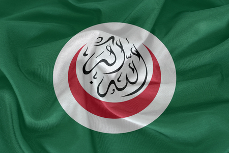 organisation: Organisation of Islamic Cooperation flag  on the fabric texture