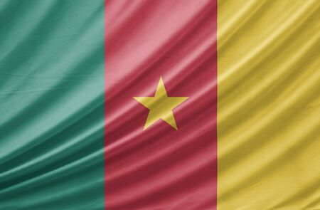 cameroonian: Cameroon national flag background texture