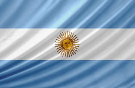 bandera argentina: Ondeando la bandera de Argentina Foto de archivo