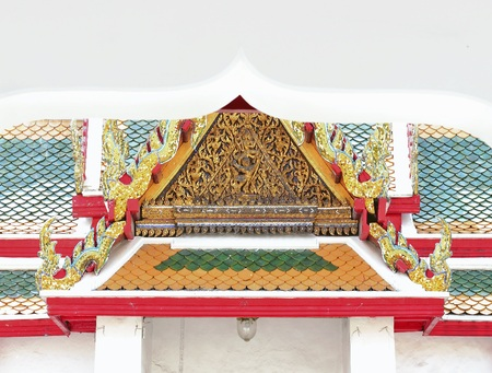 apex: gold of gable apex architecture in thailand temple