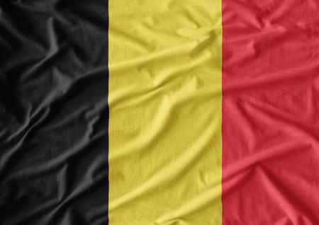 belgium: Fabric texture of the flag of Belgium