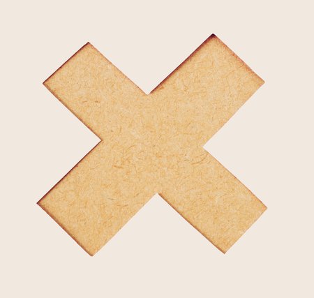multiplicar: botón de borrar. Icono de la marca equivocada, icono de la muestra se multiplican. Símbolo del icono de la textura de la madera se multiplican
